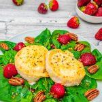 Gerösteter Erdbeer-Ziegenkäse-Salat