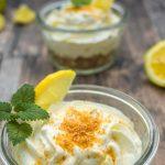 Zitronen-Käsekuchen im Glas